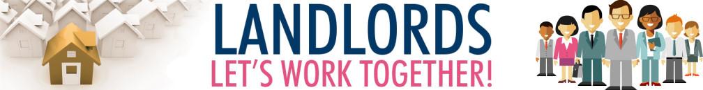 Decorative image advertising strapline - Landlords - Let's Work Together