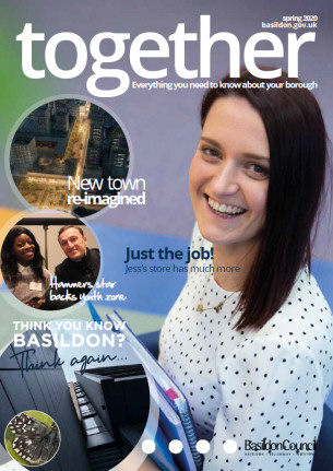 Decorative image showing together magazine - front cover - Spring 2020