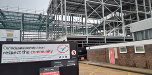 Image promoting 13/10/2020 - Basildon town centre, East Square cinema project topping out ceremony