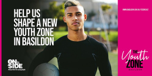 Image promoting public consultation on requirements for a new Basildon Youth Zone