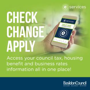 E-services graphic - Customer Services - Basildon Borough Council