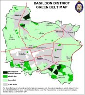 Small Green Belt Map - Basildon District