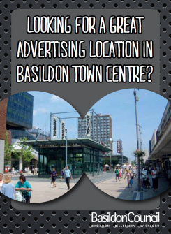 Image promoting Basildon town centre as a great advertising location
