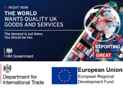 Button image for Get Exporting 2 - links to great.gov.uk - export guidance and services