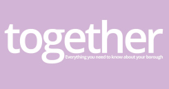 Image promoting the Basildon Council's 'together' resident magazine