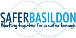 Image shows the Safer Basildon Partnership Brand Logo