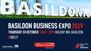 Image promoting Basildon Business Expo 2019