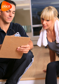 Image promoting personal fitness reviews at The Place's Pulse Fitness Suite