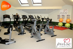 Image promoting exercise and gym equipment at The Place's Pulse Fitness Suite