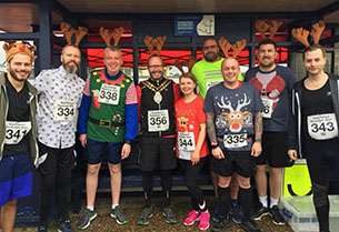 Press release image for Festive run raises funds for Mayor's Charity Appeal Trust