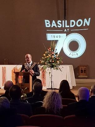 Mayor of Basildon, Cllr David Dadds JP, speaks at the civic celebration in St Martin's Church