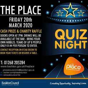 Quiz Night at The Place with Cash Prize and Charity Raffle