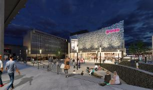 Image showing CGI image of the planned new development of a 10 screen cinema and six new restaurants in Basildon's East Square
