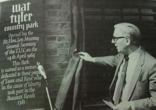 Heritage Photo of Basildon - 1984 - Len Murray General Secretary of the Trades Union Congress opens Wat Tyler Park