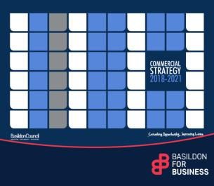 Image promoting Basildon Council's Commercial Strategy