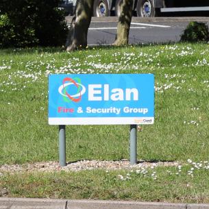 Image advertising roundabout sponsorship in Basildon Borough