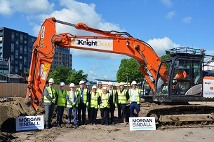 Photo showing the new college campus ground breaking ceremony