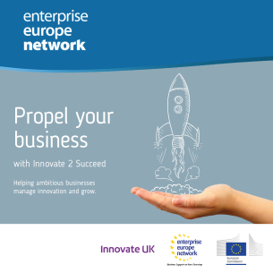 Image promoting Enterprise Europe Network - Innovate 2 Succeed Prgramme
