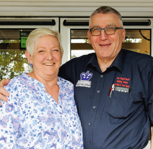 Decorative image showing Basildon Heroes - October 2019 - Pam and John McKay