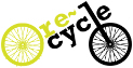 Image showing the Re-cycle brand logo - helping more people access bikes throughout Africa.