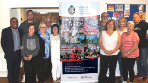 Decorative photo image showing Basildon Heroes - Basildon Twinning Group
