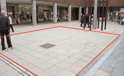 Image of Basildon town centre promotional, trade and event space for hire - outside Marks and Spencer