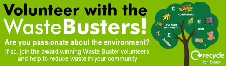Image of a Recycling poster - Recycle for Essex - Wastebuster Volunteers