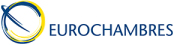 Button image of the Logo of EUROCHAMBRES, a partner in Basildon Council's International Business Development Programme