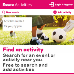 Essex Activities - Search for an event or activity near you