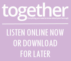 Button image, links to Talking News - 'together' resident magazine