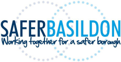 Image shows the Safer Basildon Partnership Brand Logo