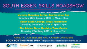 Image advertising the South Essex Skills Roadshow 2019